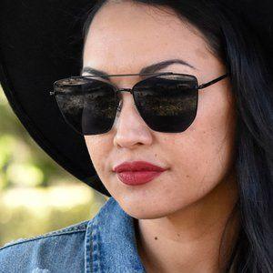 Black Oversized Cat Eye Glasses